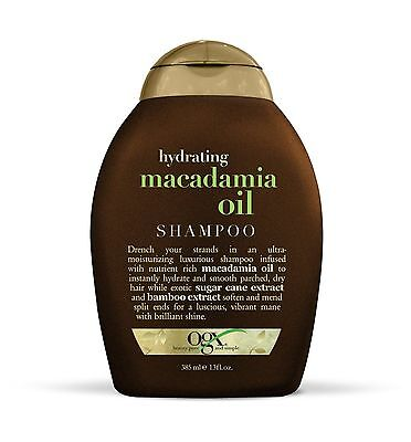 OGX Hydrating Macadamia Oil Shampoo with Sugar Cane and Bamboo Extract 13oz