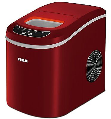 26 Lbs Counter Top Ice Maker, Red Free Shipping