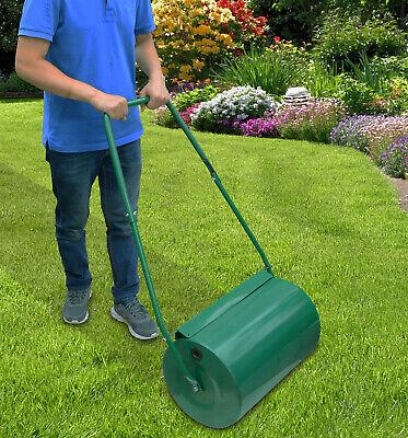 38L Lawn Roller | Manual Metal Grass Roller Water Sand Filled Gardening