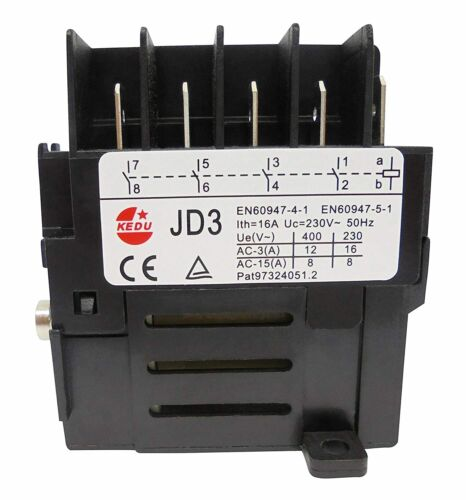 KEDU JD3 230V 10Pin Switch Relay for Electric Power Tool Undervoltage Protection