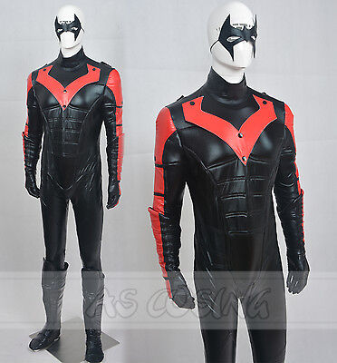 Nightwing Cosplay Costume Halloween Men Costume Red Version Halloween Costume