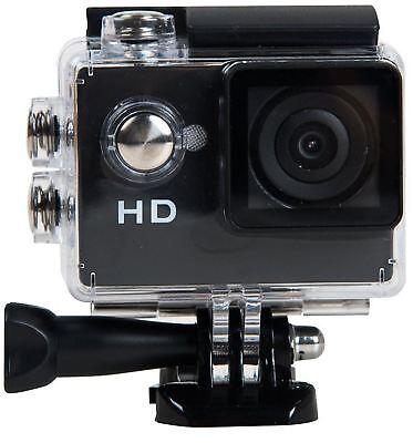Tec+ 720P HD Action Camera with Mounting Accessories TecPlus Waterproof - Black