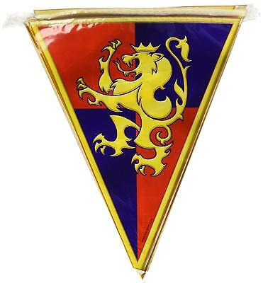 MEDIEVAL PENNANT 12' Birthday PARTY BANNER Room Wall Decorations Knights Lion](Banner Medieval)