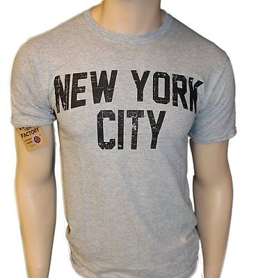 City Shirts (New York City Unisex T-Shirt Distressed Screenprinted Gray Lennon)