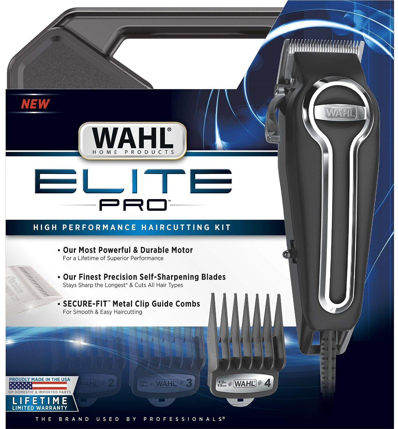 Wahl Clipper Elite Pro High Performance Haircutting Kit S...