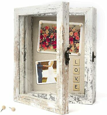8x10 Picture Frame Rustic Wood Deep Shadow Box Display Case for Medals Photos
