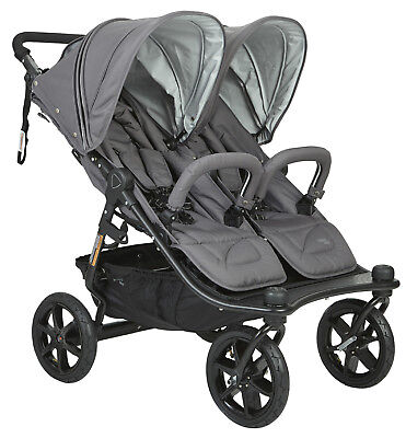 Valco Baby Twin Tri Mode Duo X Compact All Terrain Double Stroller Dove Grey NEW, used for sale  Whittier