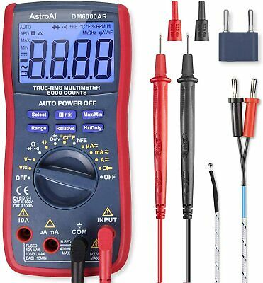 AstroAI Digital Multimeter, TRMS 6000 Counts Multimeters Manual and Auto Ranging