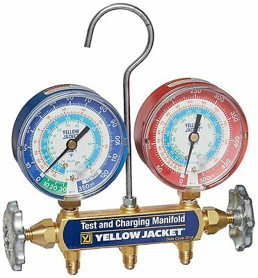 Yellow Jacket 42001 Manifold With 3-18 Color-coded Gauges Psi R-22404a410...
