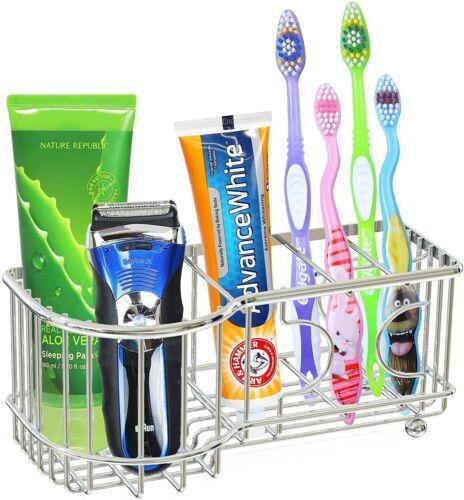 Toothbrush Toothpaste Holder Stand Bathroom Organizer MultiFunctional 6 Slots