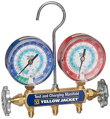 Yellow Jacket 42005 Series 41 Manifold W 3-18 Gauges R22r134a404a