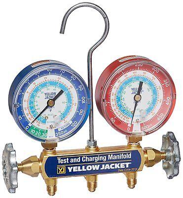 Yellow Jacket 42005 Mechanical Manifold Gauge Set2-valve R-22 R-134a R-404a
