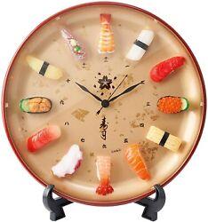 Sushi Wall Clock JAPAN Japanese Sushi motif 12 Pcs Real 3D Funny Design New F/S