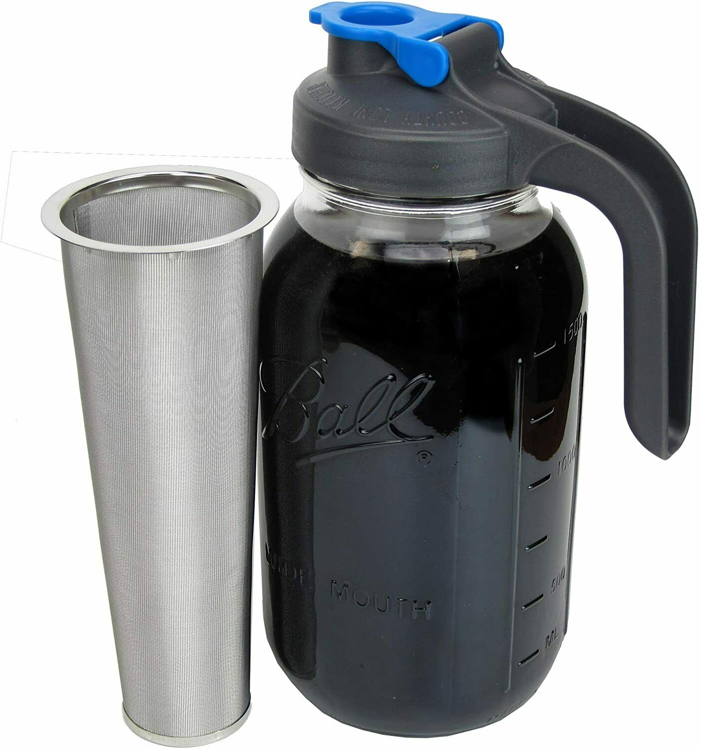 Cold Brew Jar Coffee Maker with Handle by County Line Kitche