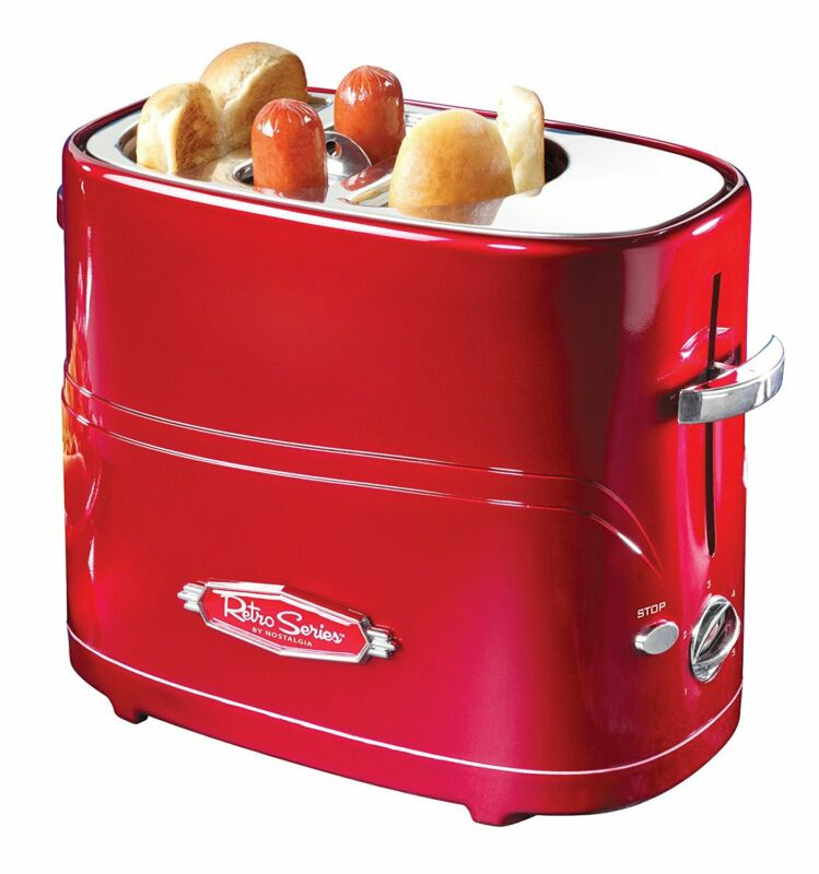 Nostalgia Retro Style Pop-up Bun Warmer Hot Dog Sausage Cooker Toaster Machine