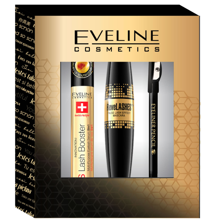 cd957802af2 Makeup Geschenkset SOS Lash Booster ReveLASHES Mascara Eyeliner Black