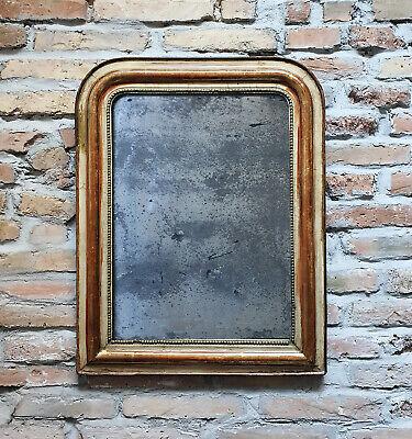 """Antico e Bellissimo Specchio Francese """"Luigi Filippo"""", specchio a mercurio '800"""