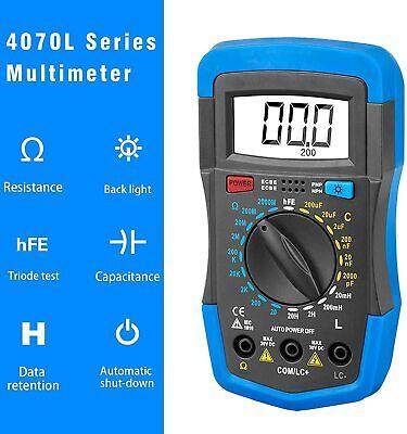 Holdpeak Digital Multimeter Manual-ranging Hfe Test Resistance Inductance Tester