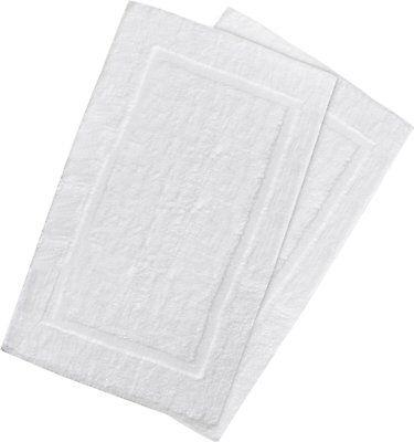 Luxury Hotel--Shower Bath Mat Floor Mat - (2 Pack, White, 21 Inch by 34 Inch)
