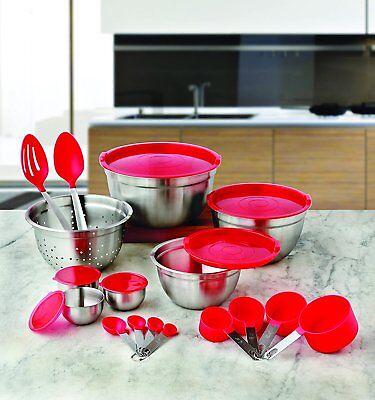 Better Homes & Gardens 23-Piece Gadget Utensil Kitchen Set Stainless Steel