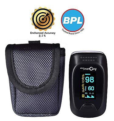 Bpl Medical Technologies Smart Accuracy Oxy Finger Tip Pulse Oximeter Black