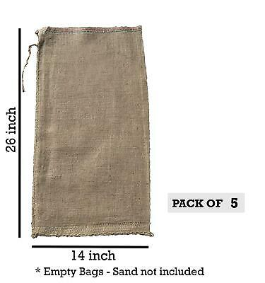 5 14x26 Burlap Bags, Burlap Sacks, Sandbags, Gunny Sack, Potato Sacks, Sack