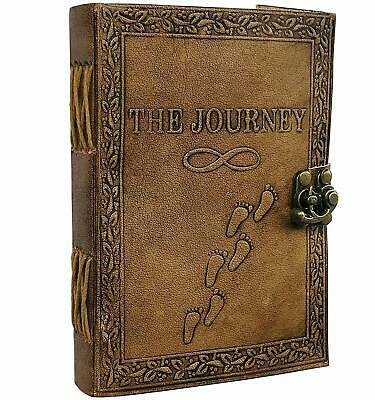 Journal Writing Notebook - Handmade Leather Bound Daily Notepad For Men Women