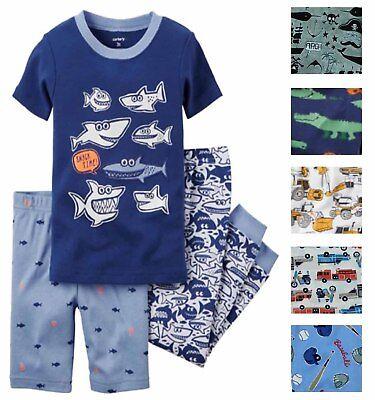Carters Little Boys 3 Piece Jersey Cotton Pajama Sleepwear Set](Little Boys Pjs)
