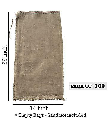 100 - 14x26 Burlap Bags, Burlap Sacks, Sandbags, Gunny Sack, Potato Sacks, Sack