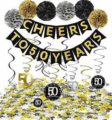 50th Birthday Party Decorations KIT Party Supplies 50th Anniversary Decorations