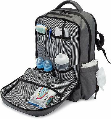 Three Lullabies Diaper Bag Backpack - Multi-Function Waterproof Baby Nappy Bag