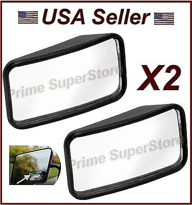 NEW SIDE AUXILIARY BLIND SPOT WIDE VIEW MIRROR X TWO SMALL REARVIEW RV VAN TRUCK