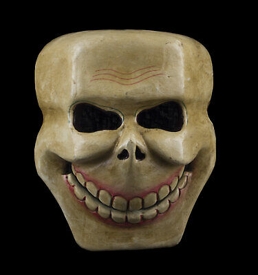 Mask Citipati Tête de Death 18 cm Wooden Painted - Himalaya-Nepal Tibet 9415 B7