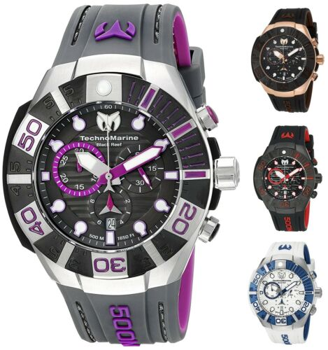 Купить TechnoMarine - Technomarine Men's Black Reef 500M Chronograph 45mm Watch - Choice of Color