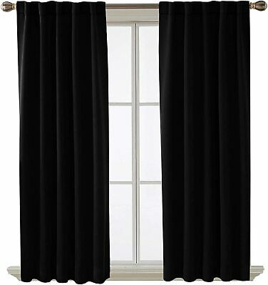 Deconovo Short Blackout Curtains for Small Windows Thermal I