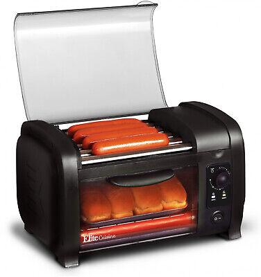 Hot Dog Roller N Toaster Oven Machine Cooker Sausage Kitchen Bun Warmer Rollers