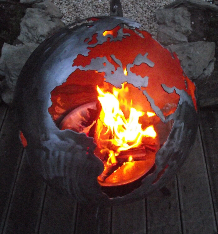 Feuerschale feuer kugel metall feuerkugel feuerkorb - Feuerkugel garten ...