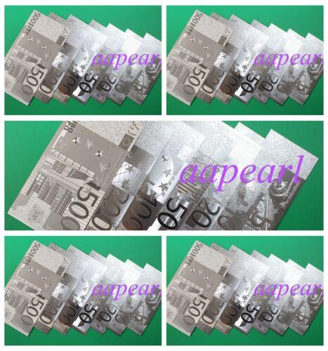 Lots 35pcs (5-500 EUR 5set )Europe Crafts Banknotes silver plastic paper money