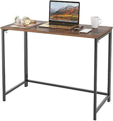 Folding Desk Wood Computer Table Compact Foldable Home Office Computer Laptop PC