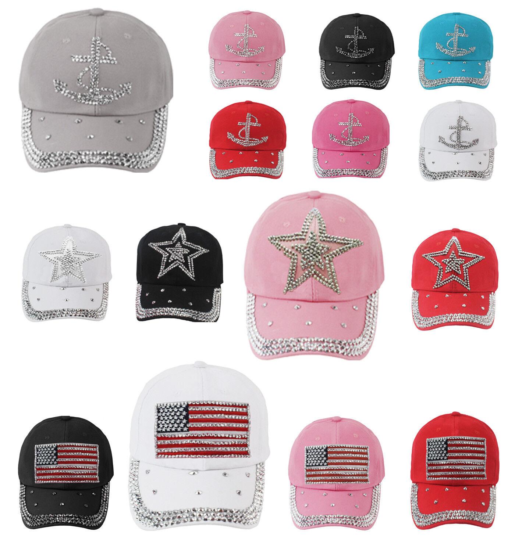 Glamexx24 Damen Basecap Cap Caps Snapback Kappe Baseball Mütze Glitzersteine Neu
