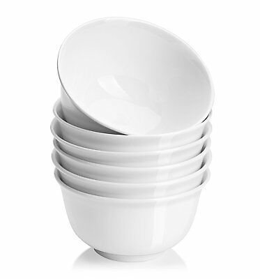 20 oz Porcelain Cereal/Soup Bowl Set - 6 packs, White, Deep