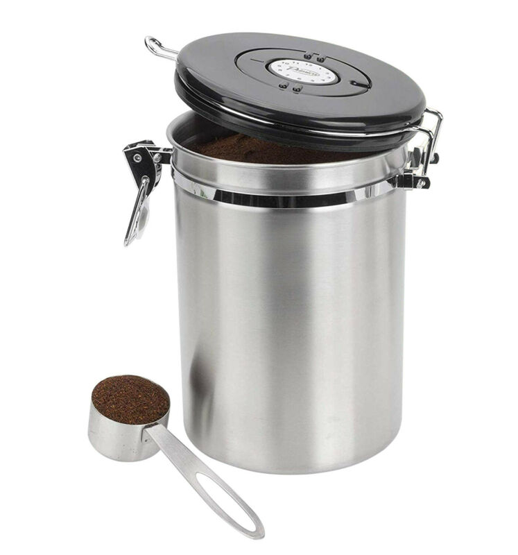Coffee Stainless Steel Large Airtight Storage Container Cani