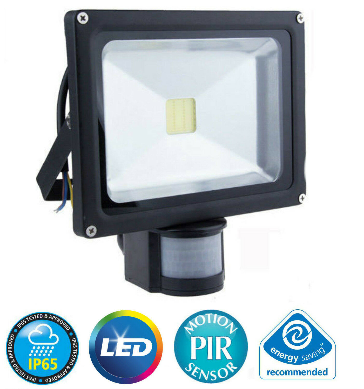 20W PIR LED COB FLOODLIGHT MODERN SECURITY FLOOD LIGHT MOTION SENSOR OUTSIDE NEW
