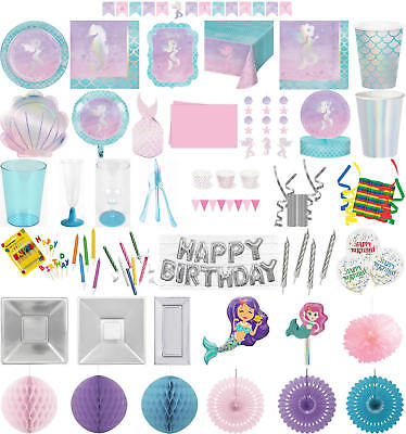 Kinder-Geburtstag Party Deko Feier Fete Motto schimmernde Meerjungfrau (Jungen Geburtstag Party)