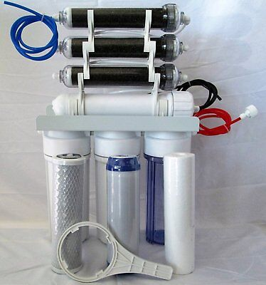 7 stage RO/Di Reverse Osmosis system 100 gpd & Tank and 1 set of extra filters