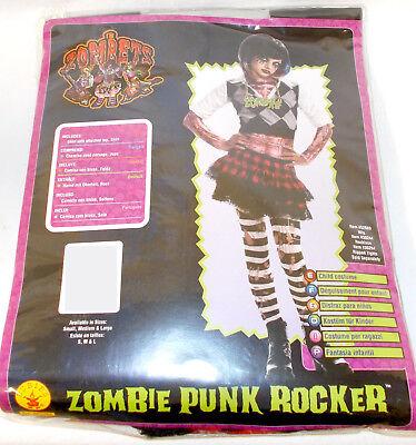 Rubies Zombets Zombie Punk Rocker #1 Child Costume Top Skirt S M NIP](Zombie Rocker Costume)