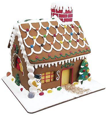 Fox Run 19 Pc Gingerbread House Cookie Cutter Mold Bake Set w/ Icing Set - NEW