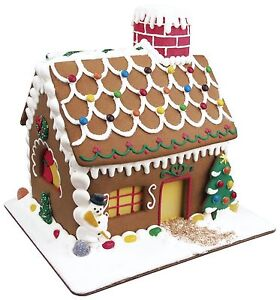 Fox Run 19 Pc Gingerbread House Cookie Cutter Mold Bake Set W Icing