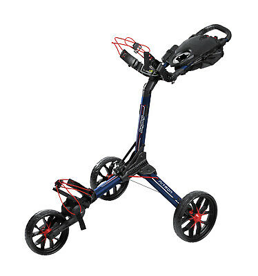 NEW Bag Boy Nitron Navy/Red Golf Push Cart w/ Auto Open Technology