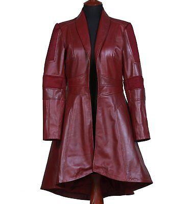nity War Scarlett Johansson Black Widow Faux Leather Coat (Faux Black Widow)